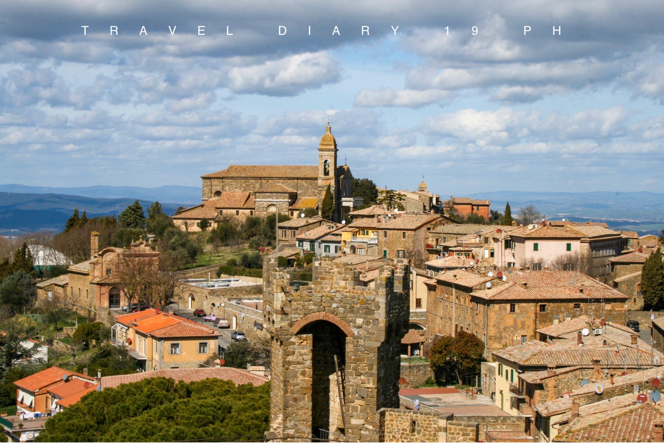 Vista panoramica su Montalcino