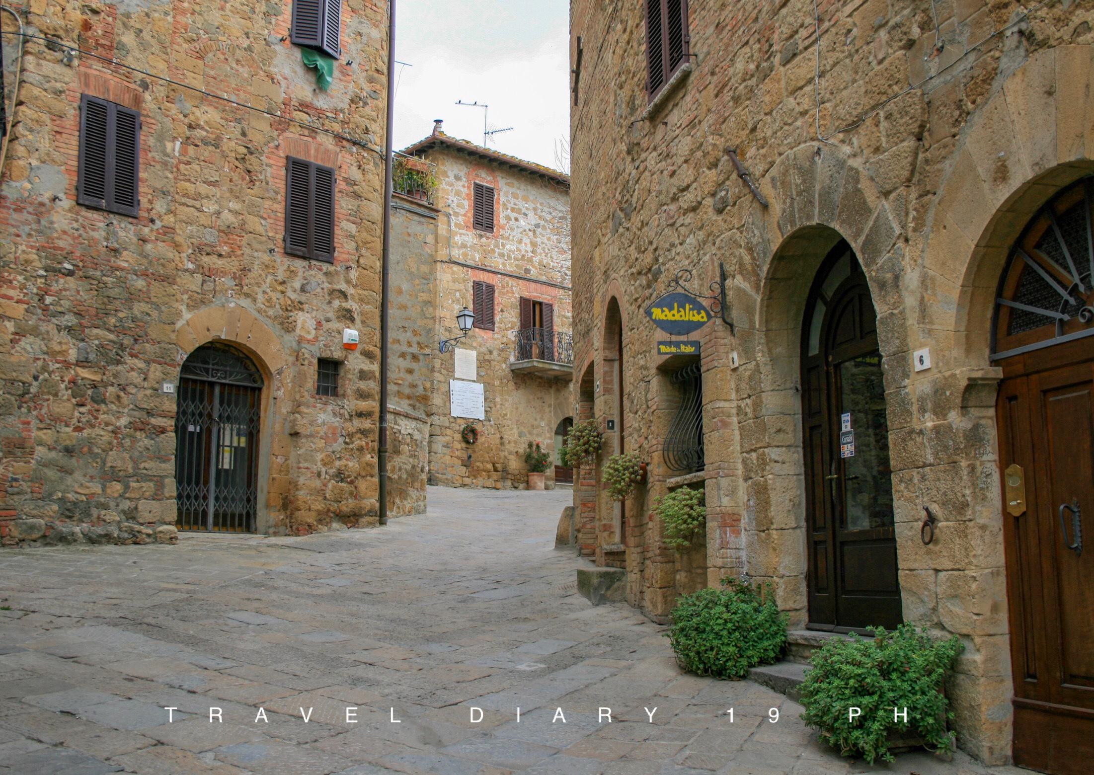 Il centro storico di Monticchiello
