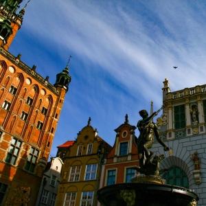 La statua del Nettuno a Danzica, Polonia