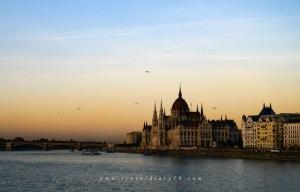 Tramonto a Budapest durante il free walking tour