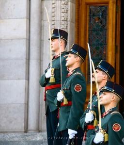 Al parlamento di Budapest, durante il free walking tour