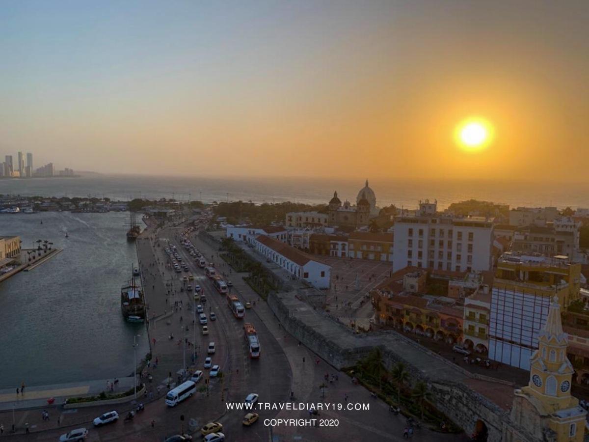 Sunset in Cartagena de Indias, Colombia