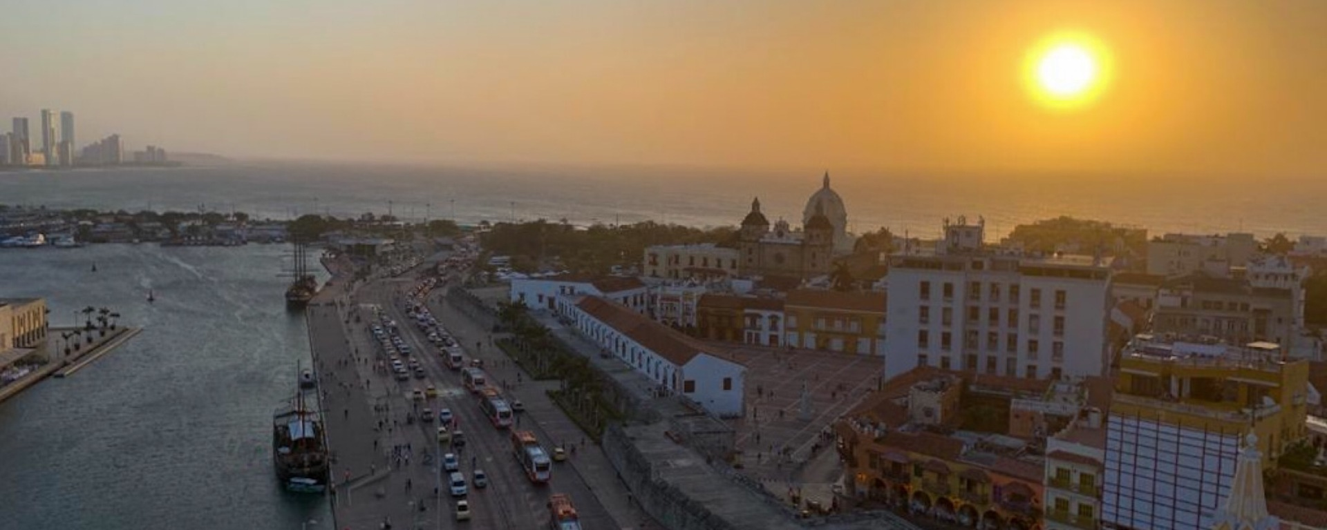 Sunset in Cartagena de Indias, Colombia