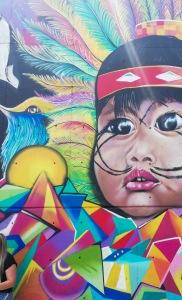 Street art nella Comuna 13, Medellin