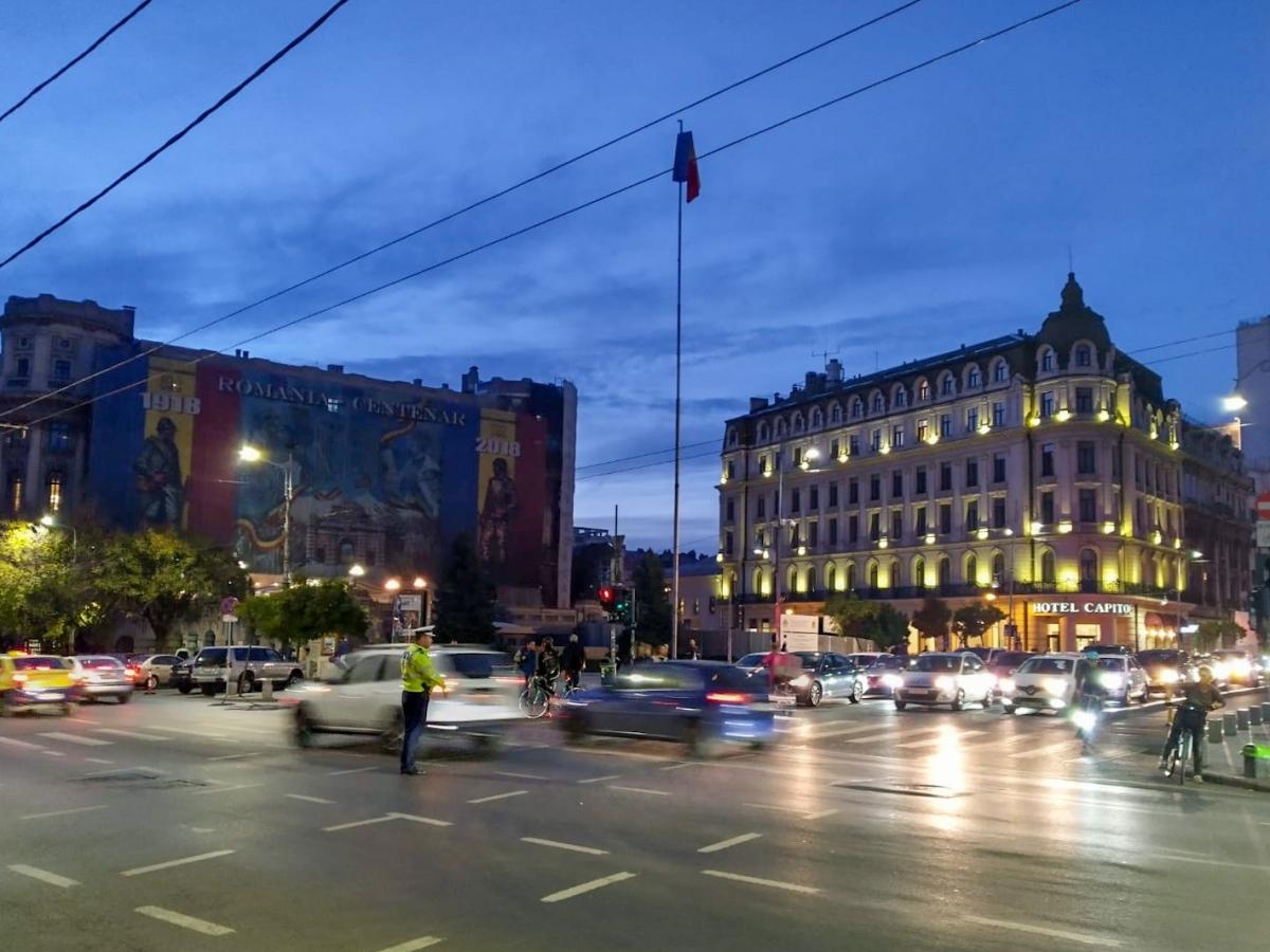 Piazza nel centro di Bucarest