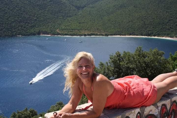 Annalisa e il panorama di Cefalonia