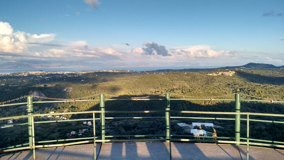 Veduta dell'interno di Corfù, nelle Ionie