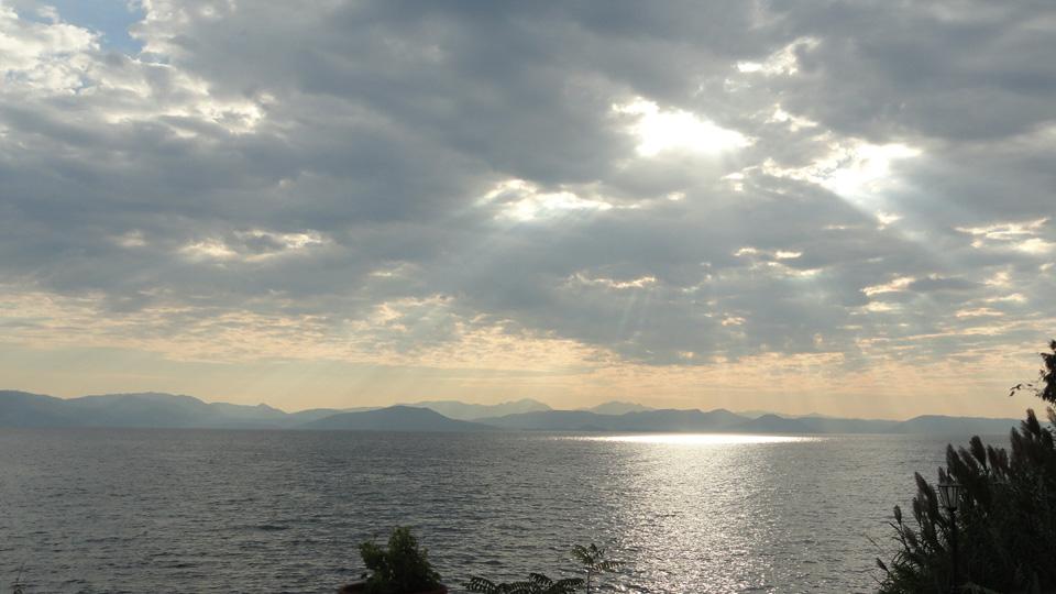 Panorama a Corfu, Grecia
