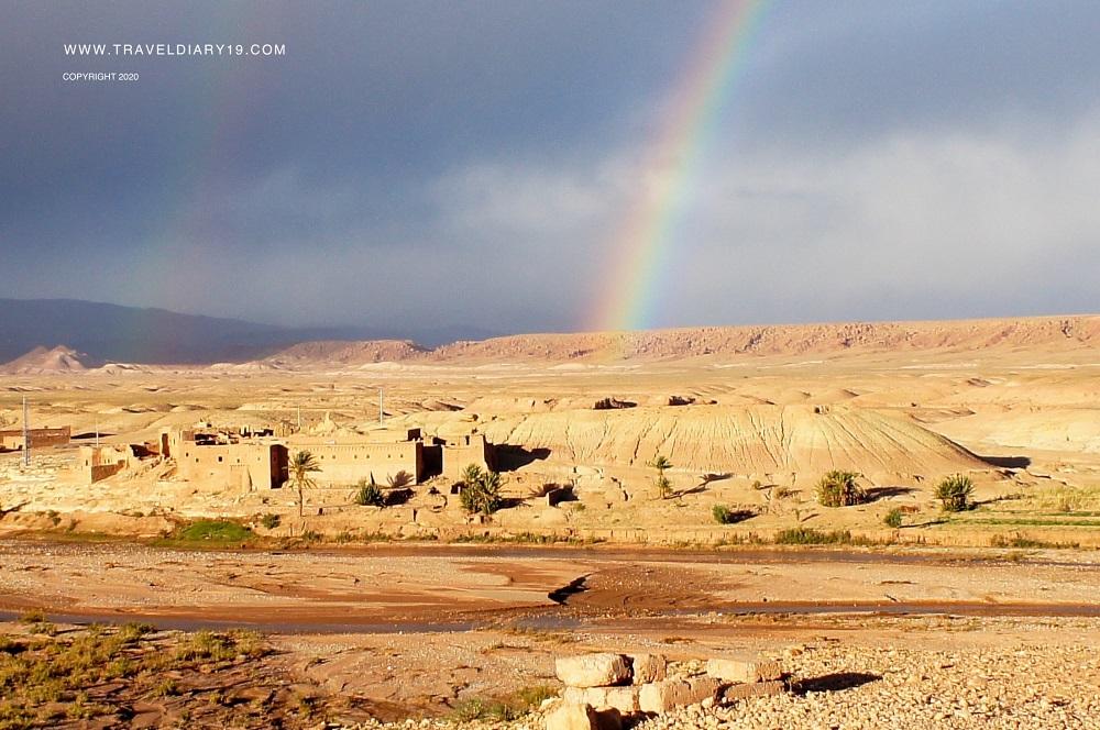 arcobaleno nel deserto del Marocco, Africa