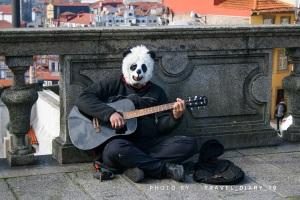Artista di strada a Porto