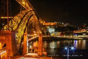Il ponte Dom Luiz di notte