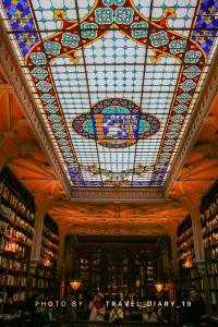 Soffitto della libreria di Porto